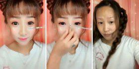Me dhe pa makijazh, transformimi mbresëlënës (Foto/Video)