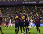 Osasuna e mposhtë Barcelonën midis 'Camp Nou' me një lojtar më pak