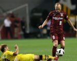 Iniesta dhuron magji tek goli i tij i parë në Japoni, driblon me mjeshtëri një mbrojtës dhe pastaj edhe portierin kundërshtar