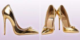 Këpucët më të shtrenjta në botë shiten për 13 milionë funte, dhe janë të mbuluara me 236 gurë të diamantit (Foto/Video)