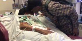 Për ta vizituar gruan në spital, 99-vjeçari ecën për çdo ditë nga dhjetë kilometra në këmbë (Video)