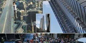 """""""Njeriu merimangë"""" ngjitet pa pajisje mbrojtëse në ndërtesën më të lartë në Londër (Foto/Video)"""