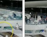 Kinezja bie në akuariumin e peshkaqenëve, shpëtoi mrekullisht edhe pse qëndroi në ujë për 60 sekonda (Video)