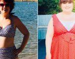 Për dy vite fjeti 22 orë në ditë dhe i shtoi 50 kilogramë, pas dietave dhe ushqimit të shëndetshëm riktheu linjat trupore që i kishte dikur (Foto)