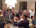 """Macron e Trudeau """"zhvishen nga kostumi zyrtar"""", ia marrin valles gjatë një darke në Armeni (Video)"""