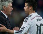 Ancelotti vështron situatën e Jamesit, e do te Napoli