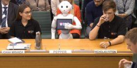 Dëshmitari i parë që nuk është njeri, roboti merret në pyetje nga ligjvënësit e Parlamentit (Video)