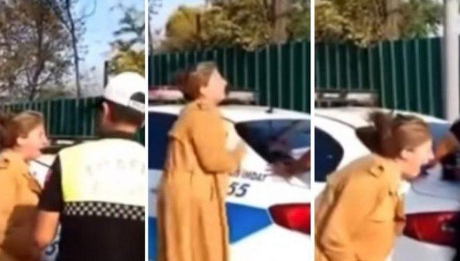 Policia i shqipton tiketën për mosrespektim të rregullave në trafik, profesoresha turke u bërtet me gjithë forcën policëve (Video)