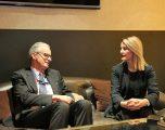 Ministrja Hoxha takoi Christian Danielsson, shpreh zhgënjimin për vonesat në liberalizimin e vizave