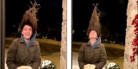 Pasojat e temperaturave të ulëta, amerikanes i ngrihen flokët dhe i qëndrojnë të varura (Video)