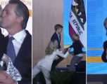 Guvernatori i Kalifornisë po mbante fjalimin e inaugurimit, djali i tij dy-vjeçar mori vëmendjen e të gjithëve (Video)