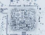Pamje mahnitëse e Bibliotekës Kombëtare e mbuluar nga bora