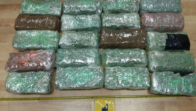 Policia arreston pesë të dyshuar dhe konfiskon mbi dhjetë kilogramë substancë narkotike
