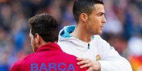 Messi vetëm një het-trik larg Ronaldos