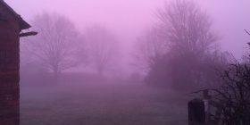 Mjegulla e rrallë me ngjyrë rozë, e ka mbuluar gjatë mëngjesit një pjesë të Anglisë (Foto)