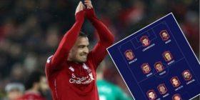 Xherdan Shaqiri zgjedh formacionin më të mirë në botë – përfshirë dy lojtarë të Liverpoolit dhe yjet e mëdha në sulm