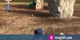 Aftësitë e mahnitshme të katërvjeçarit, shënon kosh duke gjuajtur nga dhjetë metra largësi (Video)
