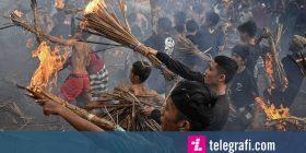 Ditë qetësie në Bali: Mbyllen aeroportet, ndalon interneti dhe zbrazen rrugët për të festuar Vitin e Ri Hindu (Foto)