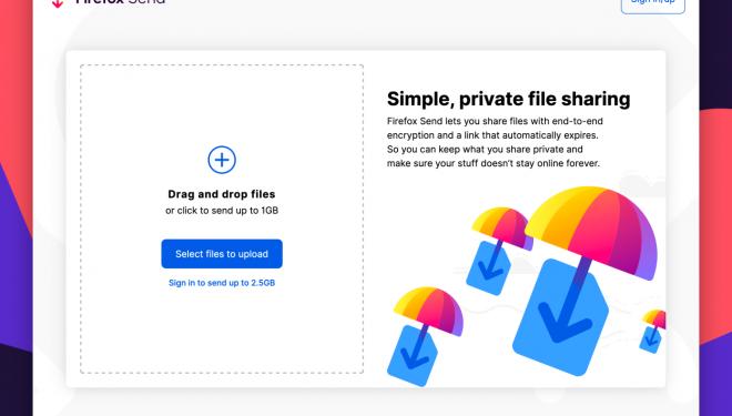 Mozilla lançon shërbimin e enkriptuar të dërgimit të skedarëve