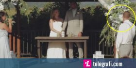 Përcjellësit të dhëndrit i bie të fikët gjatë ceremonisë martesore – thyen dhëmbët (Video)