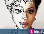 Transformon fytyrën nëpërmjet grimit që të ngjajë me personazhet e filmave (Foto)