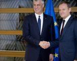 Nis takimi i presidentit Hashim Thaçi me Donald Tusk në Bruksel