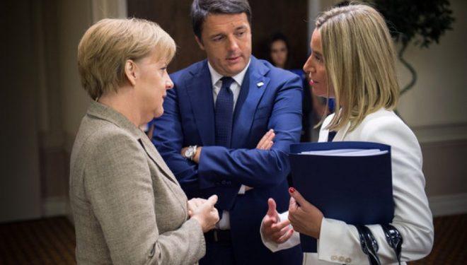 """""""Tagesspiegel"""": Gjermania kritika Mogherinit se po e mbështet idenë e shkëmbimit të territoreve Kosovë-Serbi"""
