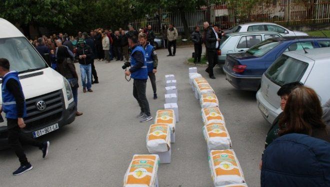 150 pako ushqimore për familjet me gjendje të rëndë ekonomike dhe sociale në Gjilan