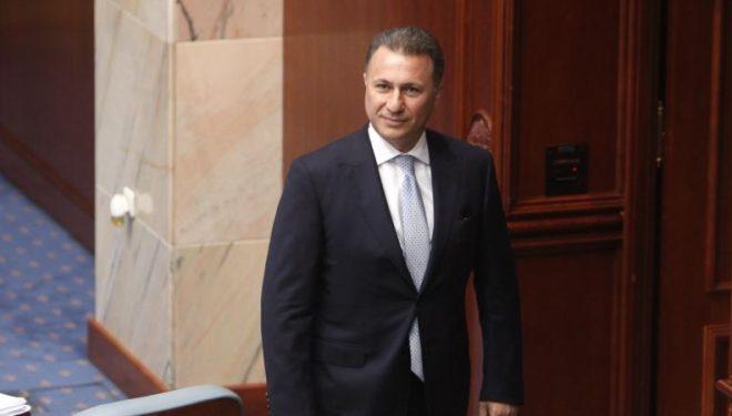 Gruevski jep dorëheqje nga mandati i deputetit në Maqedoninë e Veriut