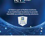 ICTSlab pjesë e Institutit Python, një qendër laboratorike e certifikuar për trajnimet në gjuhën e programimit Python