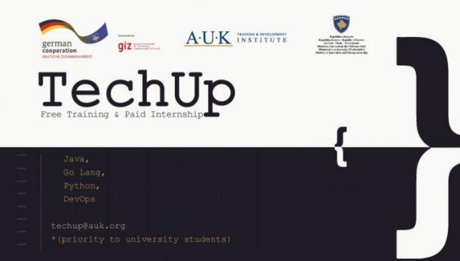 Instituti për Trajnim dhe Zhvillim në RIT Kosovë (A.U.K), ka hapur aplikimin për projektin TechUp
