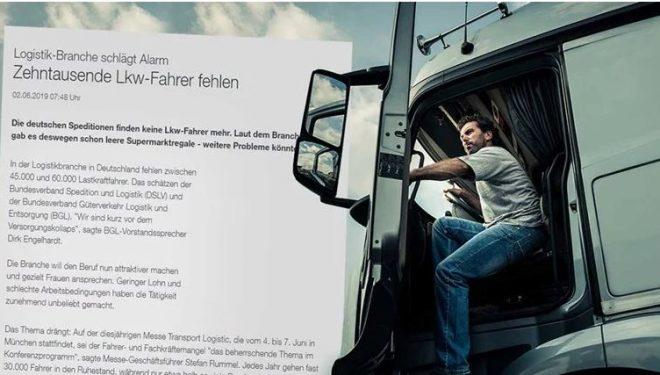 Gjermania kërkon 45.000 deri në 60.000 shoferë kamionësh