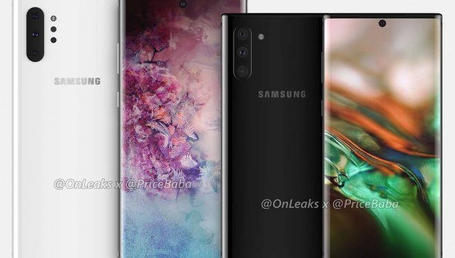 Fotot e para të Galaxy Note 10 zbulojnë ekranin gjigand