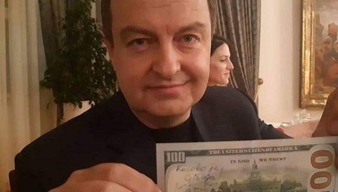 Daçiq shkruan në kartëmonedhën 100 dollarëshe: Kosova është Serbi