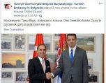 """Ambasada e Turqisë në Beograd përmirëson gabimin, heq referimin """"Kosovë e Metohi"""""""