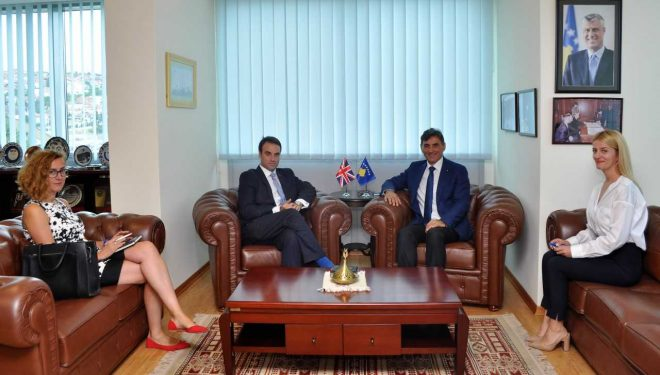 Ministri Yagcilar priti në takim lamtumirës Ambasadorin O'Connell