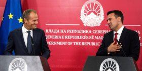Tusk: BE-ja t'i përmbushë detyrimet ndaj Maqedonisë së Veriut