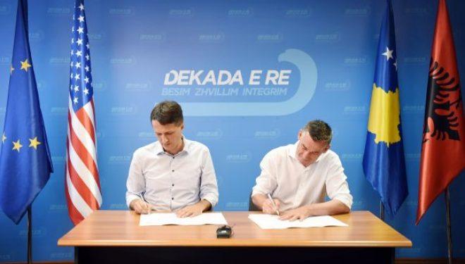 PDK dhe Lëvizja për Bashkim nënshkruajnë marrëveshje koalicioni