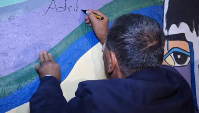 Fjalia emocionuese që Avni Dehari ia shkroi në mural Astritit