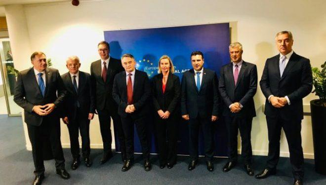 Fillon darka e punës e Mogherinit me liderët e Ballkanit Perëndimor