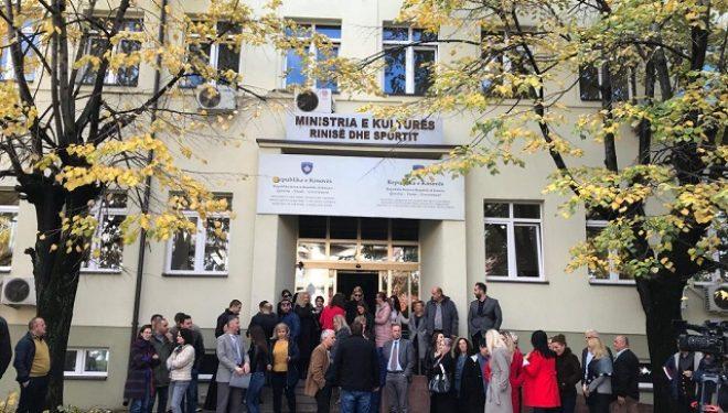 Protestë kundër vendosjes së Presidencës në objektin e MKRS-së