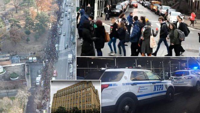 Në një shkollën të mesme në Brooklyn kërcënim me bombë, mijëra nxënës evakuohen