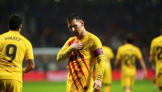 Messi ia siguron fitoren Barçës me një gol në minutën e 86-të, rrëmben kreun në La Liga