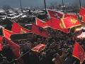 Bashkë malazezët dhe shqiptarët në protestën kundër serbëve, ja flamuri shqiptar