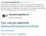 """""""Viza juaj është aprovuar"""" – Ministria e jashtme gjermane kërkon falje për mesazhin e pashije"""