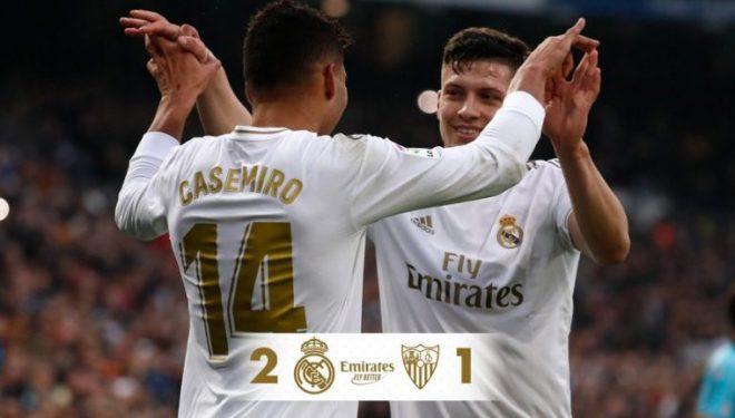"""""""Bomberin"""" e bën Casemiro, Reali mposht Sevillan dhe merr kreun"""