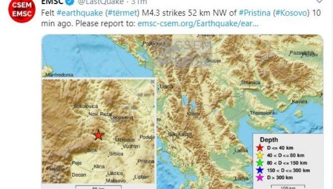 Presidenti Thaçi thotë se institucionet janë në gatishmëri pas tërmetit në veri