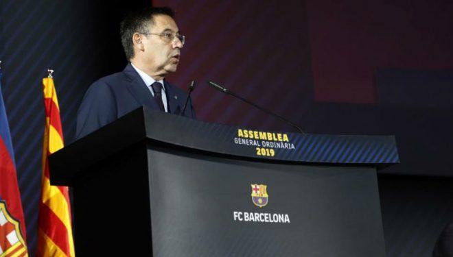 Barça mbron presidentin, paguante për të kritikuar lojtarët