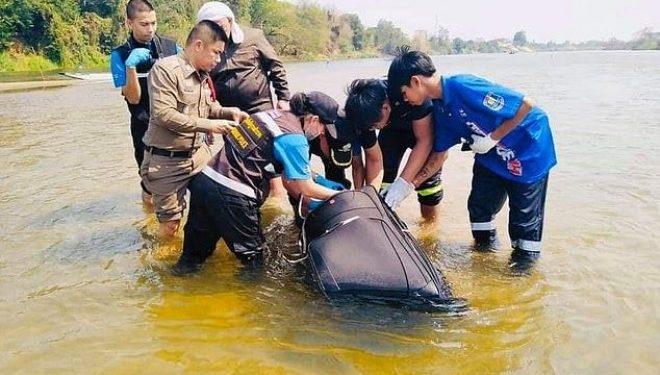 Çifti vendoset brenda një valixheje dhe hidhen në lumë, gjendet trupi i burrit, gruaja ende në kërkim