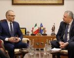 Veliu takoi ambasadorin e Italisë, Nicola Orlando